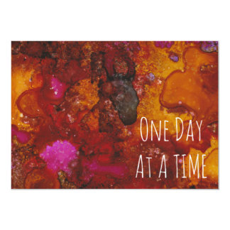 """""""One Day at a Time"""" Card in """"Taurus"""" Print 13 Cm X 18 Cm Invitation Card"""