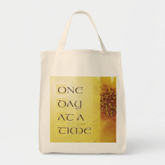One Day at a Time Coreposis Grocery Tote Bag