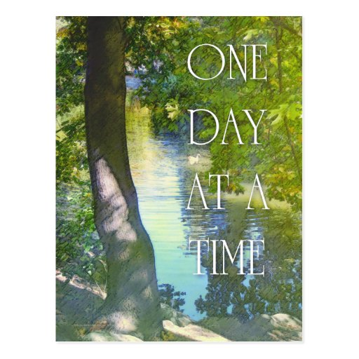 One Day at a Time Duck Pond Postcard