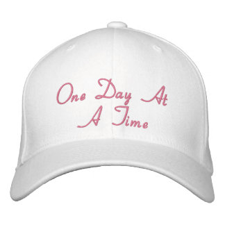 One Day At A Time Embroidered Baseball Caps