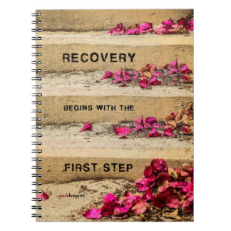 One Day at a Time (Flowers on Steps / Recovery) Notebooks