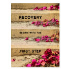 One Day at a Time (Flowers on Steps / Recovery) Postcard