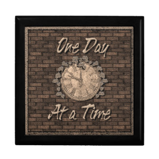 One Day At A Time God Box medallion box Large Square Gift Box