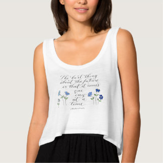 one day at a time inspirational quote typography tank top