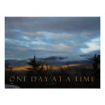 One Day at a Time January Sunset Poster