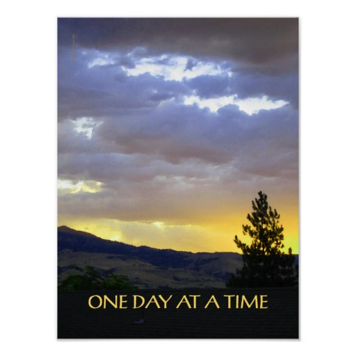 One Day at a Time July Sky Posters
