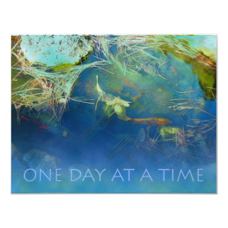 One Day at a Time Koi Pond 11 Cm X 14 Cm Invitation Card