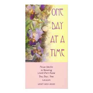 One Day at a Time (ODAT) Irises Customised Photo Card