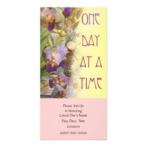 One Day at a Time (ODAT) Irises Custom Photo Card