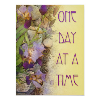 One Day at a Time (ODAT) Irises Poster