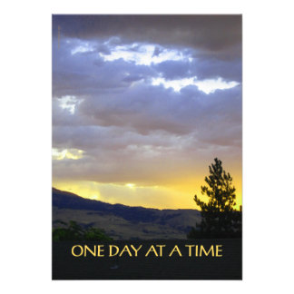 One Day at a Time Personalized Invitations