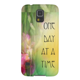 One Day at a Time Pink and Red Irises Case For Galaxy S5