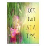 One Day at a Time Pink and Red Irises Invitation