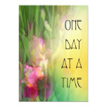 One Day at a Time Pink and Red Irises Invitations