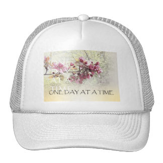 One Day at a Time Pink Blossoms Hats