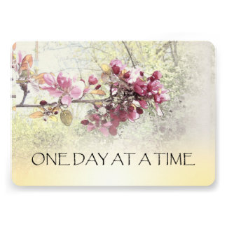 One Day at a Time Pink Blossoms Invite