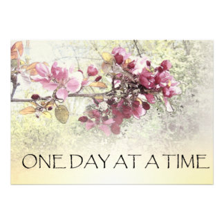 One Day at a Time Pink Blossoms Cards