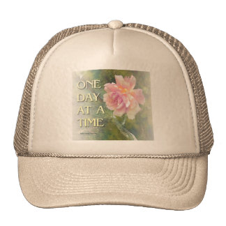 One Day at a Time Pink Rose Mesh Hats