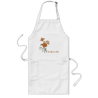 One Day at a Time (recovery quote) Long Apron