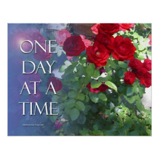 One Day at A Time Roses Poster
