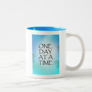 One Day at a Time September Sky Two-Tone Coffee Mug