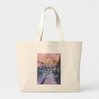 One Day at a Time Sidewalk Jumbo Tote Bag