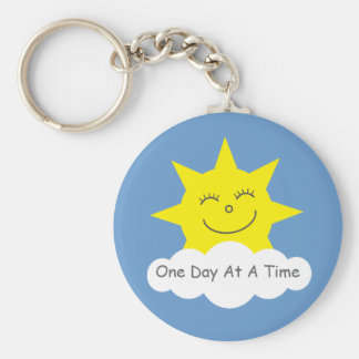 One Day At A Time smiling sun keychain