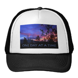 One Day at a Time Spring Sunrise Mesh Hats
