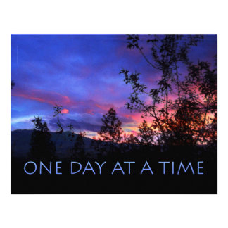 One Day at a Time Spring Sunrise Personalized Invites