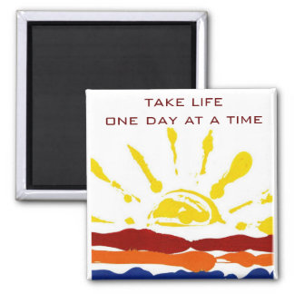 One day at a time square magnet