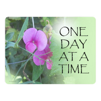 One Day at a Time Sweet Peas Announcements