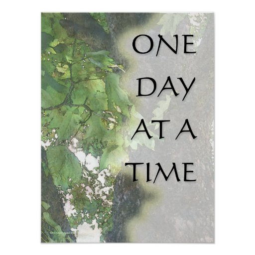 One Day at a Time Sycamore Tree Print