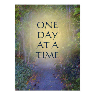 One Day at a Time Tree Canopy Poster