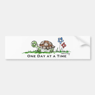 One Day at a Time (turtle) Bumper Sticker