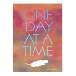 One Day at a Time White Feather Invitation
