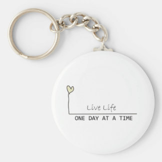 one day at  at  time basic round button key ring