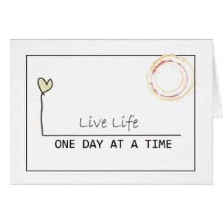 one day at  at  time greeting card