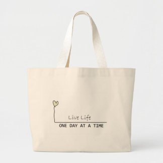 one day at  at  time large tote bag