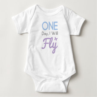 One Day I Will Fly Baby Bodysuit