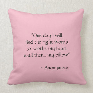 One Day I Will; Pale Pink Pillow
