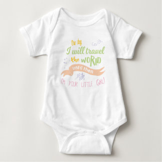 One Day I will Travel the World.. (Colorful/Girls) Baby Bodysuit