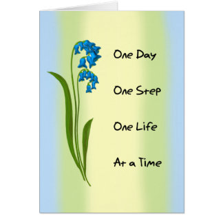 One Day  One Step Greeting Card