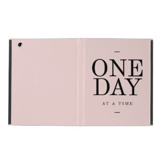 One Day Perseverance Quote Blush Pink Gift iPad Case