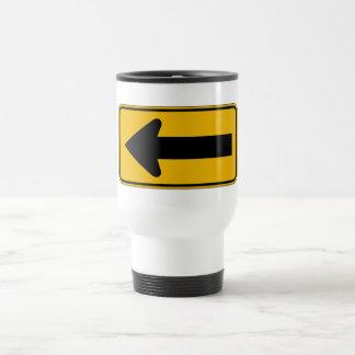 One Direction Arrow Left, Traffic Warning Sign, US Coffee Mug