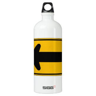 One Direction Arrow Left, Traffic Warning Sign, US SIGG Traveller 1.0L Water Bottle
