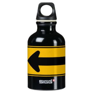 One Direction Arrow Left, Traffic Warning Sign, US SIGG Traveller 0.3L Water Bottle