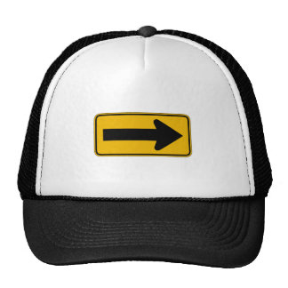 One Direction Arrow Right, Traffic Warning Signs Trucker Hats
