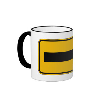 One Direction Arrow Right, Traffic Warning Signs Coffee Mug