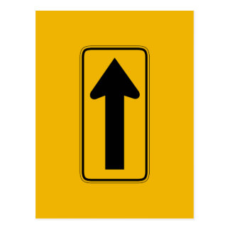 One Direction Arrow Right, Traffic Warning Signs Postcard