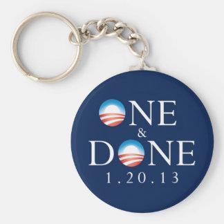 ONE  & DONE Obama Keychain